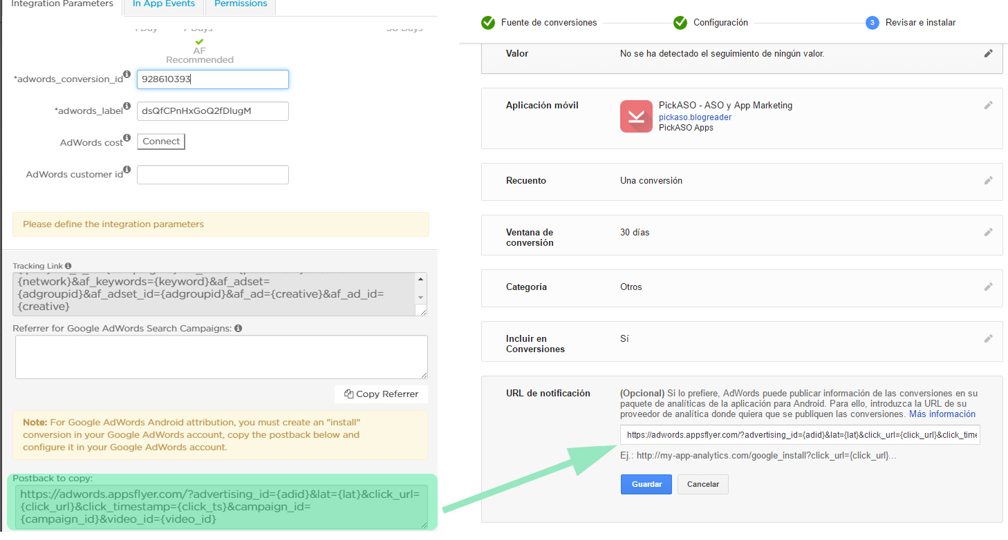 adwords-appsflyer-postback