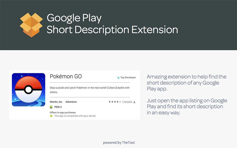 ASO Google Play Descripción Breve