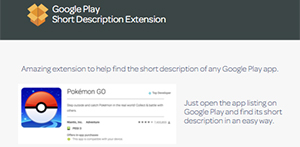 Extensión ASO Google Play Short Description para Google Chrome