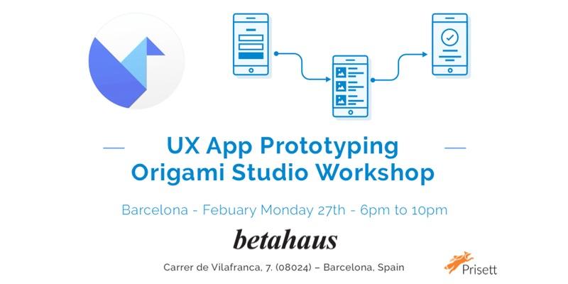 UX – App Prototyping – Origami Studio Workshop