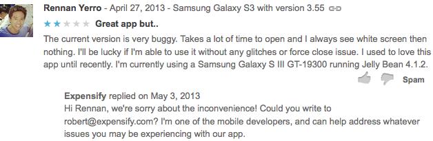 Ejemplo respuesta Google Play