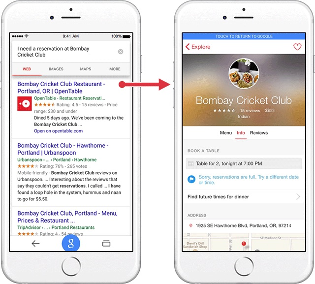 Google App Indexing Example