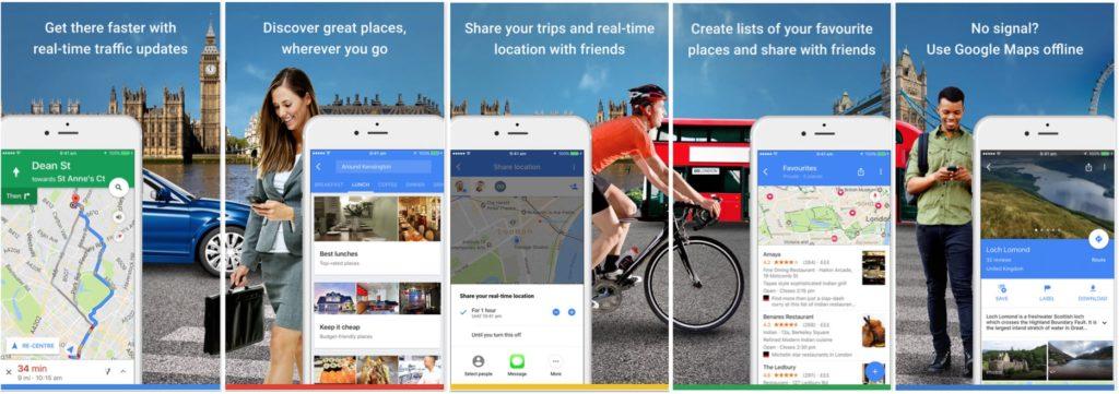 Google Maps Reino Unido iOS