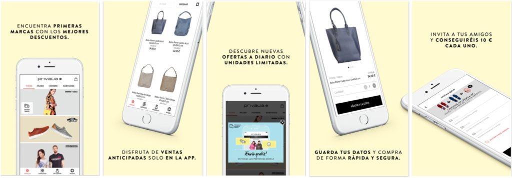Privalia screenshot iOS