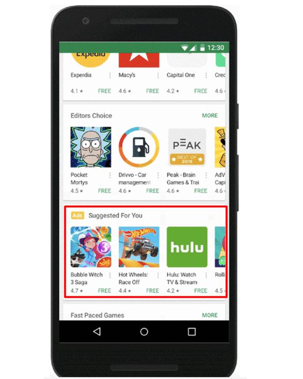 Universal App Campaigns - Nuevas ubicaciones en Google Play Store