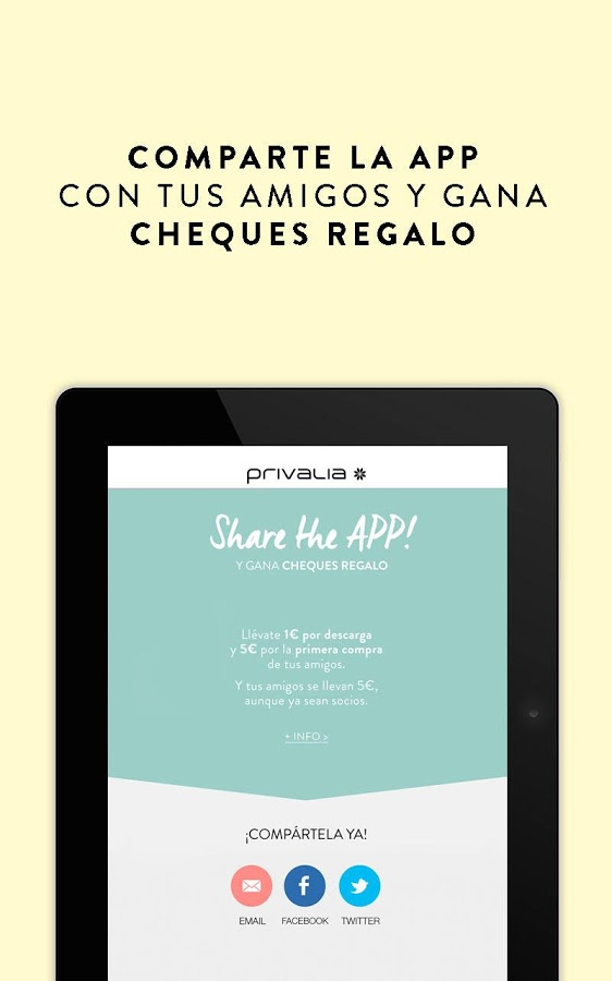 privalia share the app
