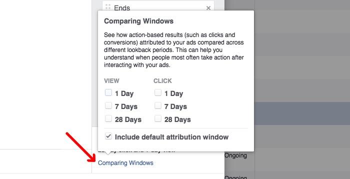 personalizar ventana de atribución en Facebook Ads