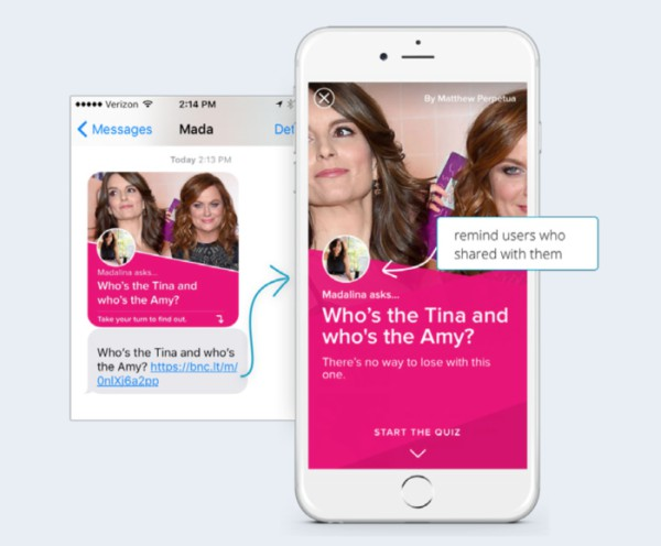 BuzzFeeds App personalized welcome store mind users who invited them