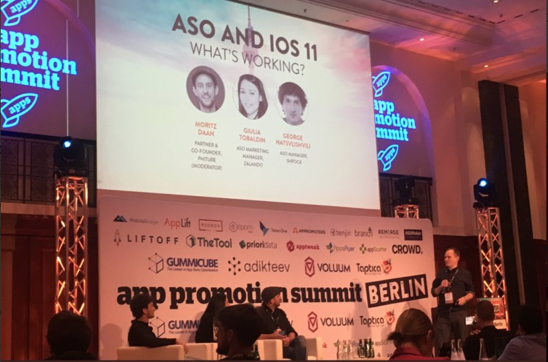ASO and iOS 11 Panel Discussion App Promotion summit berlin