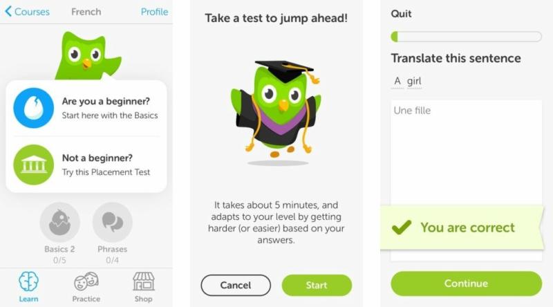 Mobile app onboarding duolingo