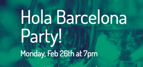 hola barcelona party MWC 2018