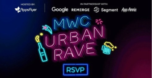 mwc 2018 urban rave appsflyer