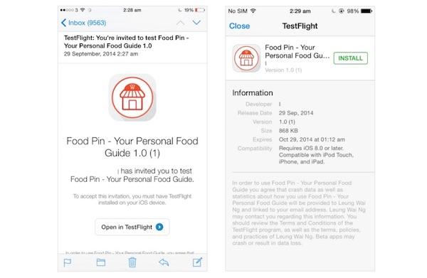 TestFlight - beta testing app