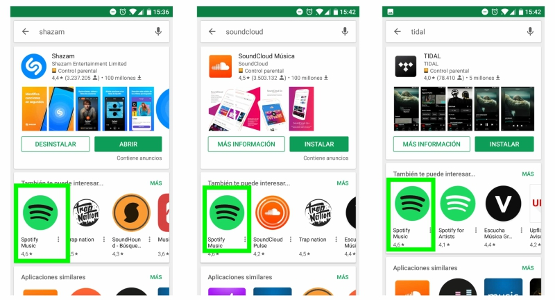 Installs per Keyword Spotify