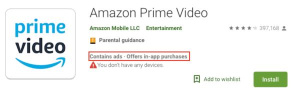 Amazon Prime Video In App Purchases
