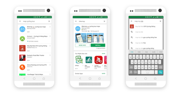 Google Play Store Search Layouts