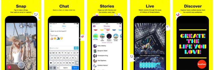 screenshots snapchat app store