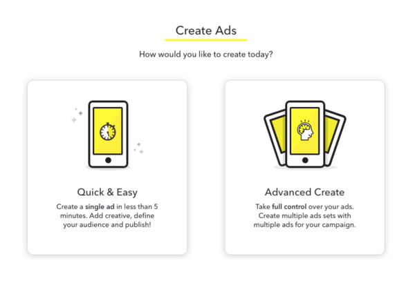Snapchat Ads - Create Ads