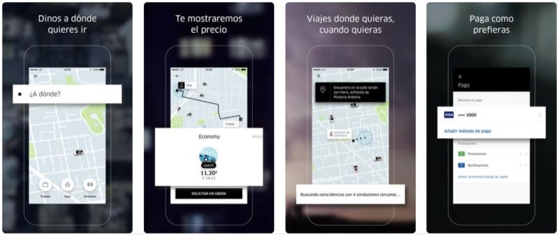 Wireframe Uber