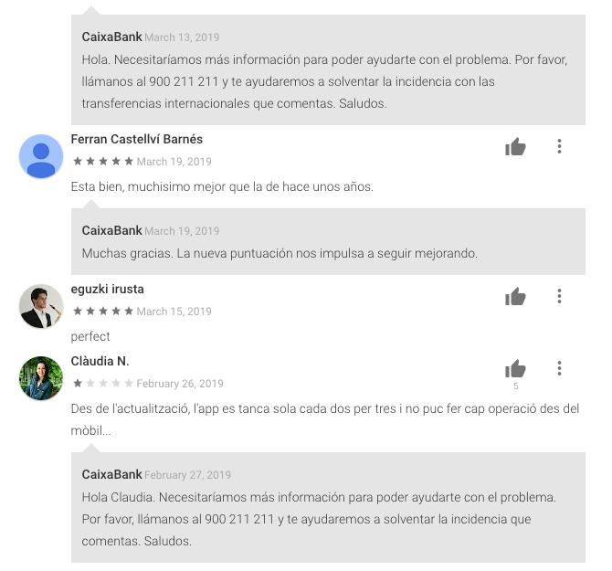 CaixaBank Android Respuesta Automatizada