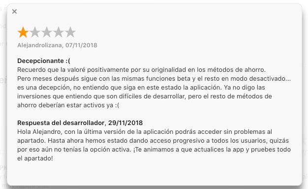 Goin App Respuesta Review Negativa