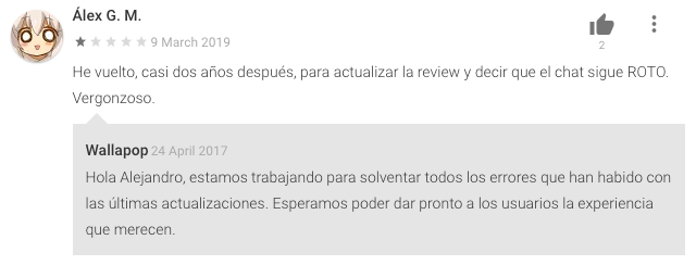 Wallapop Respuesta Review Personalizada