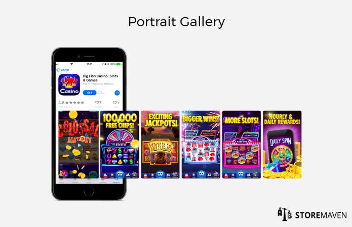 Screenshots con orientación vertical - Portrait